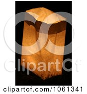 Photo Of Candle Burning In Paper Bag During Candlelight Vigil Royalty Free Stock Photography
