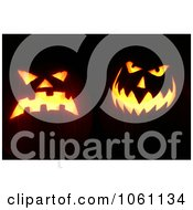 Photo Of Scary Halloween Pumpkin Faces Burning At Night Royalty Free Halloween Stock Photography