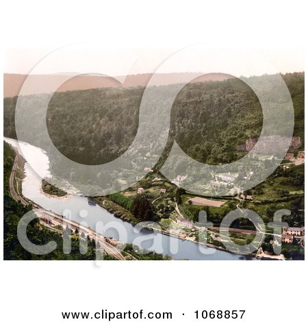 Photo of Symonds Yat Rock of the Railroad Along The River Wye in Symonds Yat in the Forest of Dean England - Royalty Free Stock Photochrome by JVPD