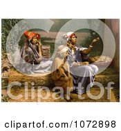 Photochrom Of A Bedouin Mother And Children Begging For Money Tunis Tunisia Royalty Free Historical Stock Photography by JVPD