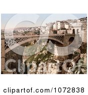 Photochrom Of A Bridge Constantine Algeria Royalty Free Historical Stock Photography by JVPD