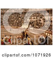 Photochrom Of A Bullfighting Scene In Barcelona Spain Royalty Free Historical Stock Photo by JVPD