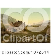 Photochrom Of A Castle In Ruins Switzerland Royalty Free Historical Stock Photography