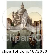 Photochrom Of A Church Of Salute Venice Italy Royalty Free Historical Stock Photography by JVPD