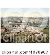 Photochrom Of A Cityscape View Of Jerusalem Israel Royalty Free Historical Stock Photo by JVPD