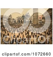 Photochrom Of A Concert In St MarkS Place Royalty Free Historical Stock Photography