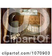 Photochrom Of A Cradle In The Cave Bethlehem Royalty Free Historical Stock Photo