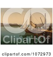 Photochrom Of A Docked Ship Molde Norway Royalty Free Historical Stock Photography