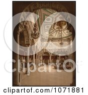 Photochrom Of A Drawing Room Interior In Tunisia Royalty Free Historical Stock Photo by JVPD