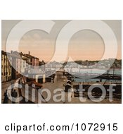 Photochrom Of A Harbor Donostia San Sebastian On The Bay Of Biscay Spain Royalty Free Historical Stock Photography