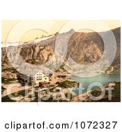 Photochrom Of A Hospice Building Grimselstrasse Bernese Oberland Royalty Free Historical Stock Photography