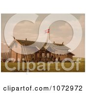 Photochrom Of A Hotel Or Tourist House In Spitzbergen Norway Royalty Free Historical Stock Photography