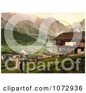Photochrom Of A House At Engelberg Valley Royalty Free Historical Stock Photography