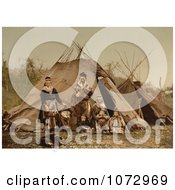 Photochrom Of A Lapp Family Norway Royalty Free Historical Stock Photography