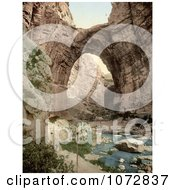 Photochrom Of A Natural Arch Over The Stream Constantine Algeria Royalty Free Historical Stock Photography by JVPD