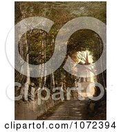 Photochrom Of A Road Leading To TellS Chapel Switzerland Royalty Free Historical Stock Photography