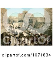Photochrom Of A Street Of The Tower Of David Jerusalem Royalty Free Historical Stock Photo