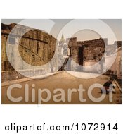 Photochrom Of A Street Scene In Fuenterrabia Spain Royalty Free Historical Stock Photography by JVPD