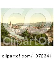 Photochrom Of A Town Of Aargau In Switzerland Royalty Free Historical Stock Photography by JVPD