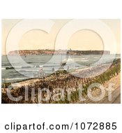 Photochrom Of A View On Heligoland From Dunes Royalty Free Historical Stock Photography by JVPD