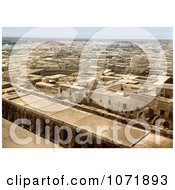 Photochrom Of A View On Kairwan As Seen From The Great Mosque Tunisia Royalty Free Historical Stock Photo by JVPD
