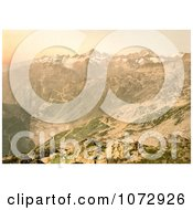 Photochrom Of A Viewpoint Of Furka Pass Switzerland Royalty Free Historical Stock Photography