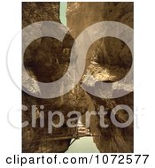 Photochrom Of A Walkway In A Gorge Royalty Free Historical Stock Photography