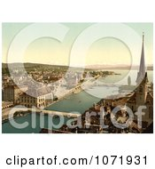 Photochrom Of A Zurich Cityscape Switzerland Royalty Free Historical Stock Photo by JVPD
