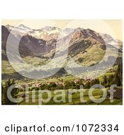 Photochrom Of Adelboden Switzerland Royalty Free Historical Stock Photography