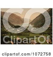 Photochrom Of Agricultural Farmland Vikinghaug Odde Royalty Free Historical Stock Photography