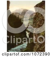 Photochrom Of Airolo Stalvedro Switzerland Royalty Free Historical Stock Photography by JVPD