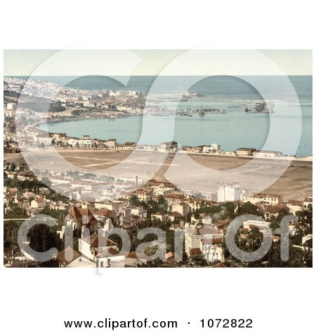 Photochrom of Algiers, Algeria as seen from Mustapha - Royalty Free Historical Stock Photography by JVPD