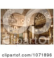 Photochrom Of An Elegant Bedroom Bey Of Tunis Kasr El Said Tunisia Royalty Free Historical Stock Photo by JVPD