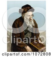 Photochrom Of An Israelite Man Seated With A Book Jerusalem Israel Royalty Free Historical Stock Photography by JVPD