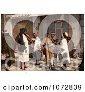 Photochrom Of Arab People Disputing On A Street Algeria Royalty Free Historical Stock Photography by JVPD