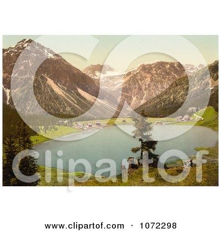 Photochrom of Arosa Switzerland - Royalty Free Historical Stock Photography by JVPD
