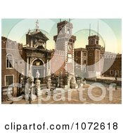 Photochrom Of Arsenal Venice Italy Royalty Free Historical Stock Photography by JVPD