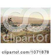 Photochrom Of Baalbek Lebanon Royalty Free Historical Stock Photo