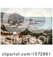 Photochrom Of Babel Oued As Seen From The Casbah Citadel Algiers Algeria Royalty Free Historical Stock Photography by JVPD