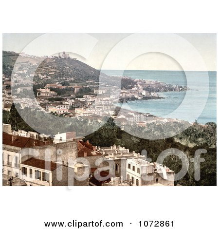 Photochrom of Babel-Oued as Seen From the Casbah Citadel, Algiers, Algeria - Royalty Free Historical Stock Photography by JVPD