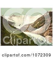 Photochrom Of Baregg Glacier In Grindelwald Switzerland Royalty Free Historical Stock Photography