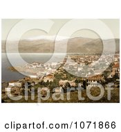 Photochrom Of Beyrout And Mount Lebanon Royalty Free Historical Stock Photo