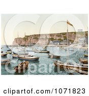 Photochrom Of Boats Heligoland Germany Royalty Free Historical Stock Photo by JVPD