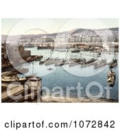 Photochrom Of Boats In The Harbor Algiers Algeria Royalty Free Historical Stock Photography by JVPD
