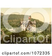 Photochrom Of Brunig Spring House In Switzerland Royalty Free Historical Stock Photography