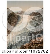 Photochrom Of Buerbrae Glacier In Norway Royalty Free Historical Stock Photography