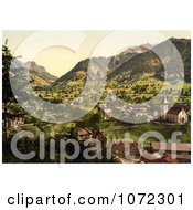 Photochrom Of Burglen Switzerland Royalty Free Historical Stock Photography by JVPD