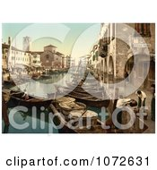 Photochrom Of Chioggia Fish Market Venice Italy Royalty Free Historical Stock Photography