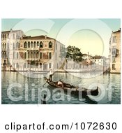 Photochrom Of Da Mulla Palace Venice Italy Royalty Free Historical Stock Photography by JVPD