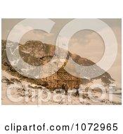 Photochrom Of Danskoen Spitzbergen Norway Royalty Free Historical Stock Photography